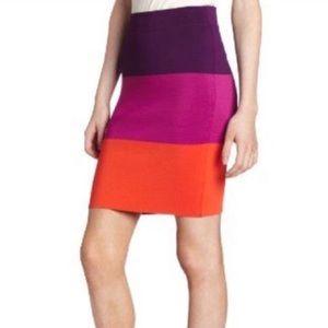 BCBG Scarlett Colorblock Pencil Skirt Size Small